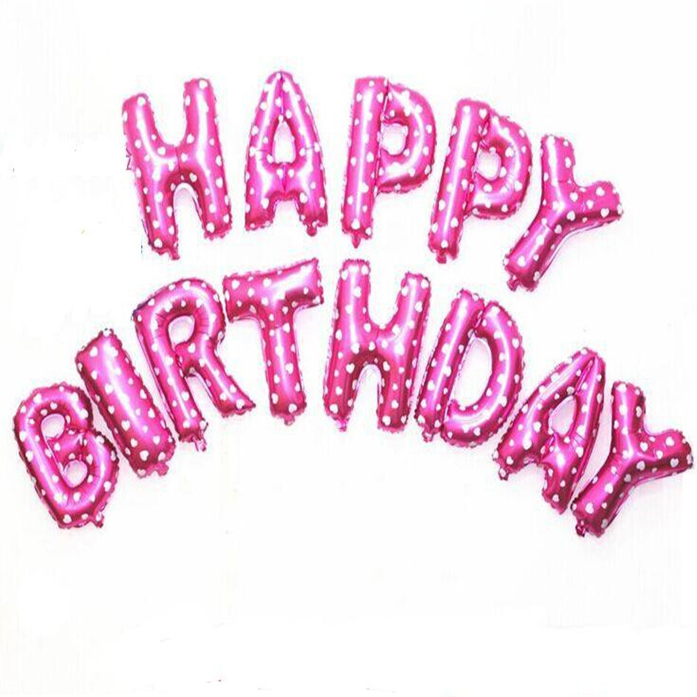 1P 16inch Pink Color A B C Letter Alphabet Foil Balloons Birthday ...