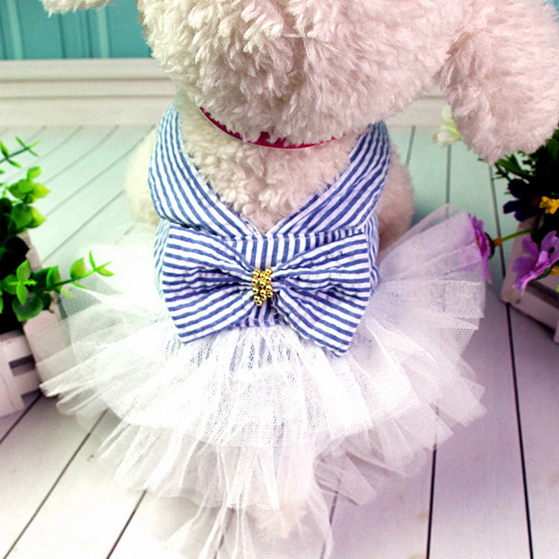 Hoomall Pet Dog Clothes Dress Sweety Princess Dress Small Medium Dogs Pet Accessories Teddy Puppy Wedding Dresses Fashion 1pc #3