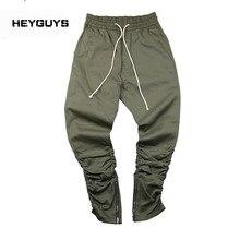 Heyguys botton улица бегунов армии тощий повседневные хип-хоп штаны молния похудения