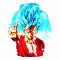 2017 Novos Estilos de Primavera 1 Hoodies De Dragon Ball Son Goku 3D Hoodies Pullovers Sportswear Moletom Com Capuz Mens Manga