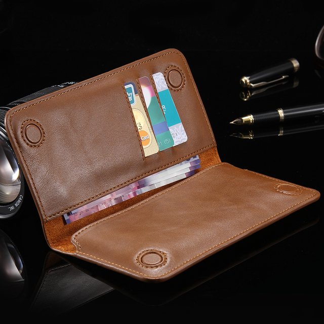 3ae4e743c49 FLOVEME Multifunctional Genuine Leather Wallet Pouch Handbag Case For Samsung  Galaxy E5 S2 S3 S4 S5 S4 S5 S6 S7 edge Phone Bag