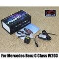 Láser de seguridad Luces de Niebla/Para Mercedes Benz Clase C W203 2001 ~ 2007/Car Anti-Trasera Luz Antiniebla/luces de la matrícula instalado