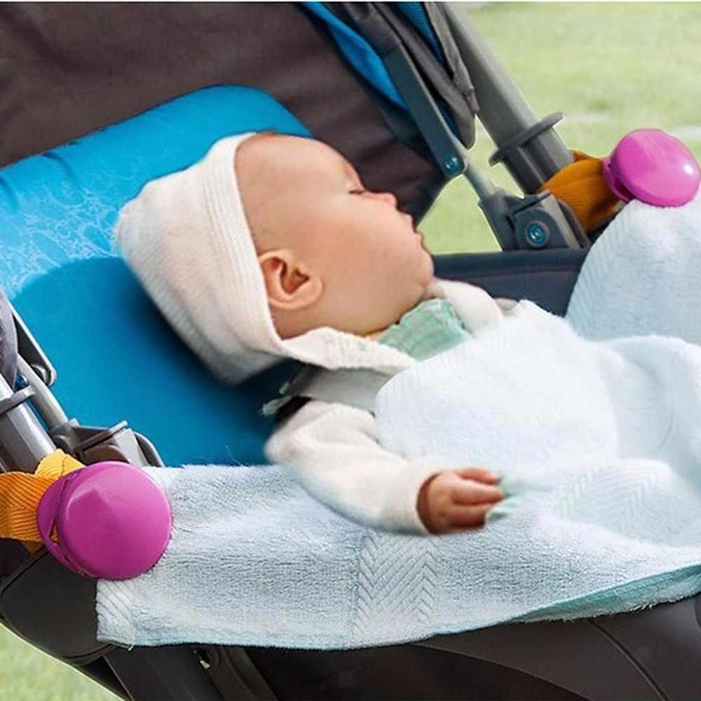 Нежный Детские коляски аксессуар 2018 Лидер продаж 2 шт./лот глянцевый многоцветный клипса от сползания одеяло клип для манеж багги