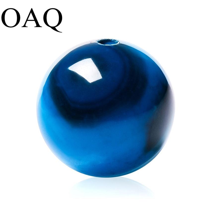 Gran cantidad AAA + Blue Stripe Natural Stone Beads Agat Beads Granos redondos 4 MM 6 MM 8 MM 10 MM 12 MM cadena pulsera DIY