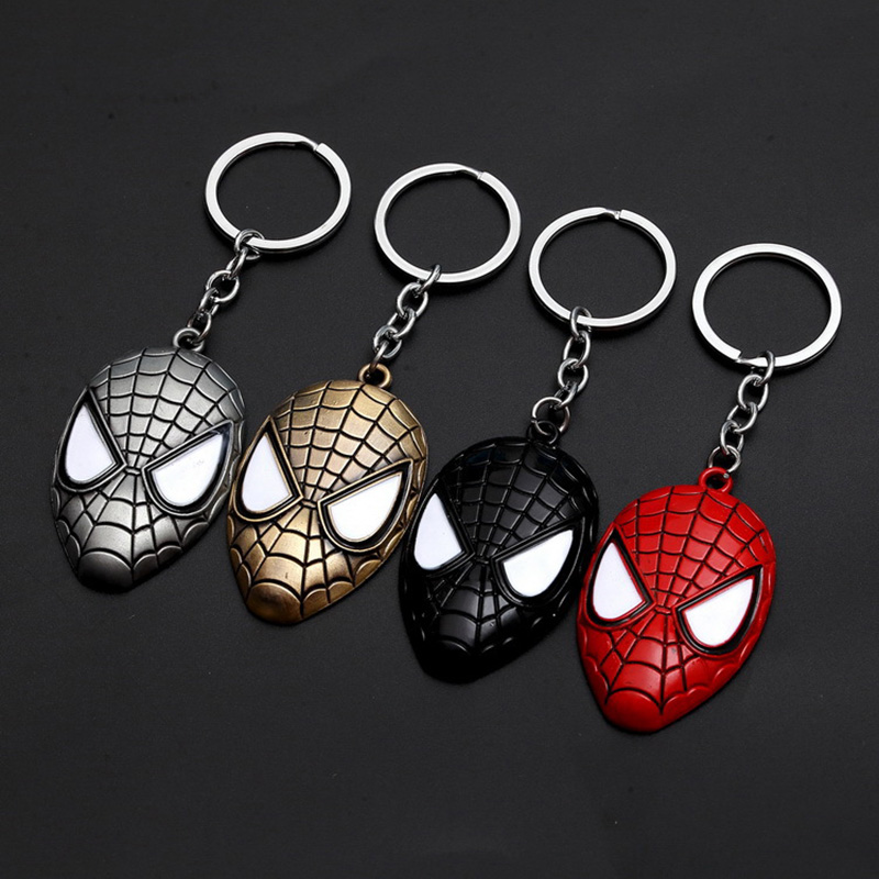 Super Hero Spider & Iron Man Pendant Key Chains Multi-Color Style Design for Men Women Bag Drive Safe Key Chains Christmas Gift