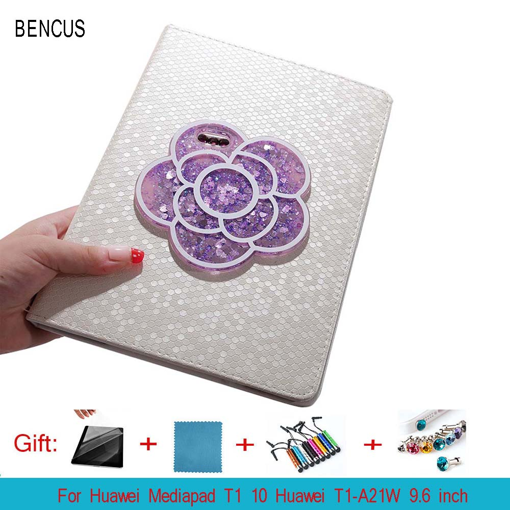 BENCUS PU Leather For Huawei Honor Note T1 10 T1-A21W T1-A21L T1-A23W/L 9.6 inch Tablet Smart Case Cover +Pen