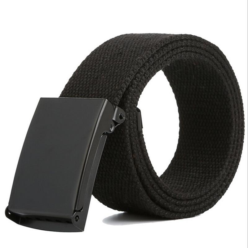 Men Belt Army Tactical Waist Belt 2018 New Fashion Unisex Male Casual Buckle Belts Canvas Webbing Waistband IU898019