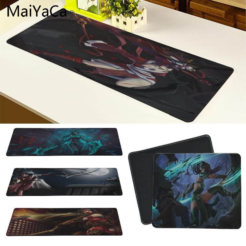 MaiYaCa New Designs LOL Akali Customized laptop Gaming mouse pad Size for 180*220 200*250 250*290 300*600 and 300*900*2mm