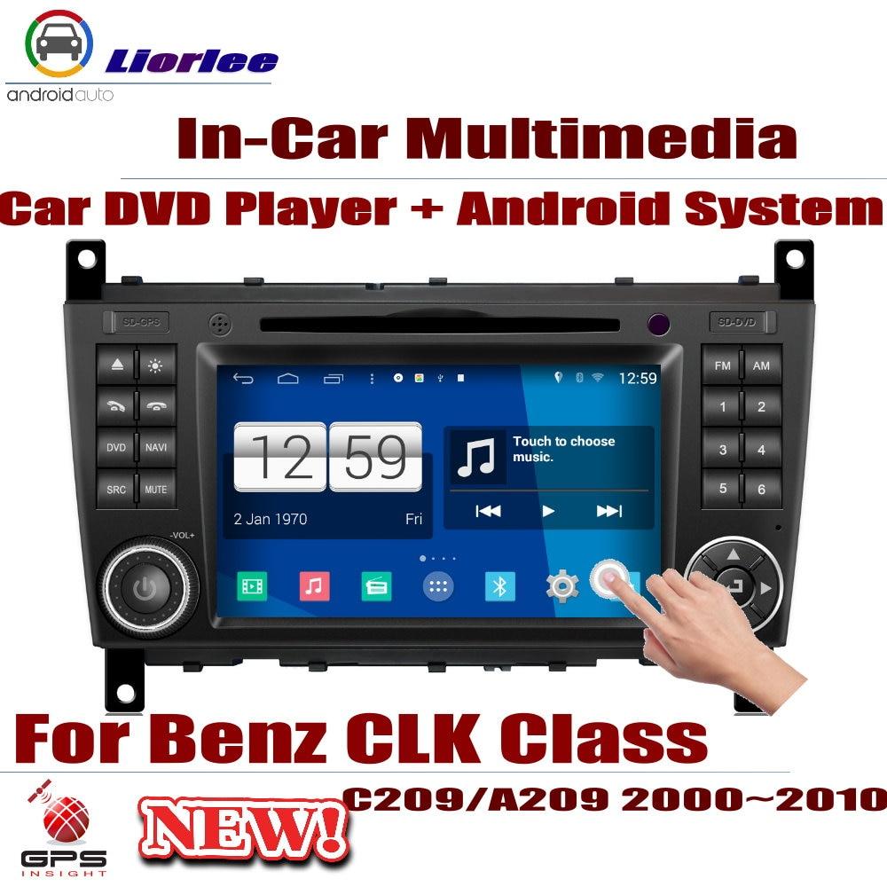 Autoradio lecteur DVD Navigation GPS pour Mercedes Benz CLK classe C209/A209 2000 ~ 2010 Android HD Displayer système Audio