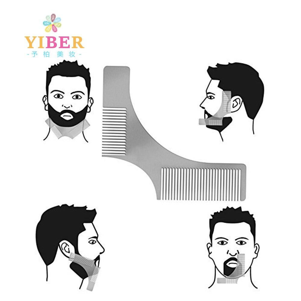 Beard Shaping Comb Stainless Steel Beard Shaping Tool Beard Modeling  Template Carding Tool Beard Comb Peine Barba