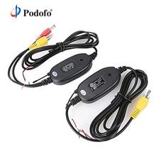 Podofo 2,4 ГГц Беспроводная камера заднего вида RCA видео передатчик и приемник комплект для автомобиля заднего вида монитор fm-передатчик и приемник