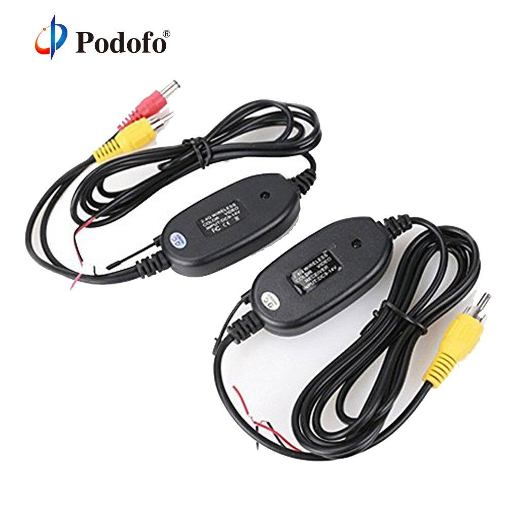 Podofo 2,4 ghz Drahtlose Rückansicht Kamera RCA Video Sender & Empfänger Kit für Auto Rück Monitor FM Transmitter & empfänger