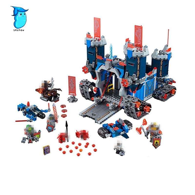 StZhou Lepin Nexoe 1115Pcs The Fortrex Nexus Knights Building Blocks Bricks kit Toys Set Castle Weapon Clay Aaron Fox Axl lepin 14004 knights beast master chaos chariot building bricks blocks set kids toys compatible 70314 nexus knights 334pcs set
