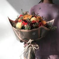 Kraft Paper Beautiful Flower Packaging Tissue DIY Material Paper Bouquet Florist Supplies Gift Wrapping 3