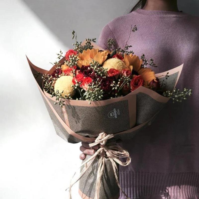 Упаковка цветов дома