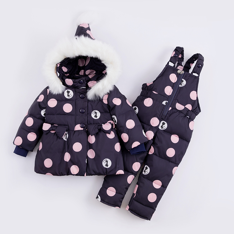 Kids Clothes Unisex Hooded Animal Single Breasted Girls Clothing Sets Down & Parkas Winter Dress single breasted side checked dress