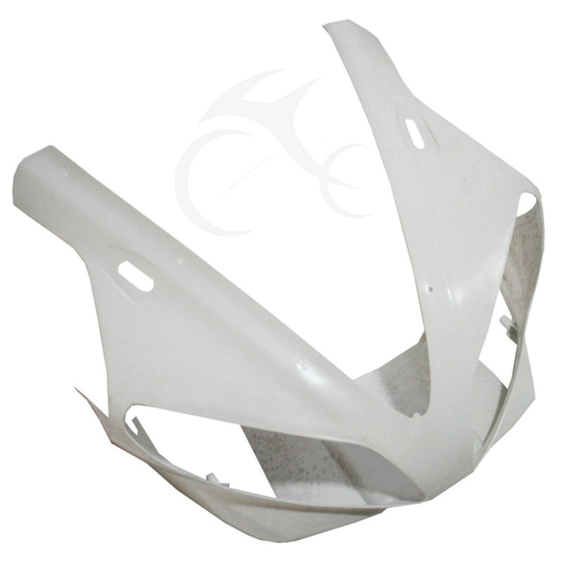 ABS Unpainted Upper Front Nose Fairing Cowl For Yamaha YZF R1 YZF-R1 2000 2001 abs injection front upper fairing front cowl nose for honda cbr 600 rr 600rr 2007 2008 unpainted