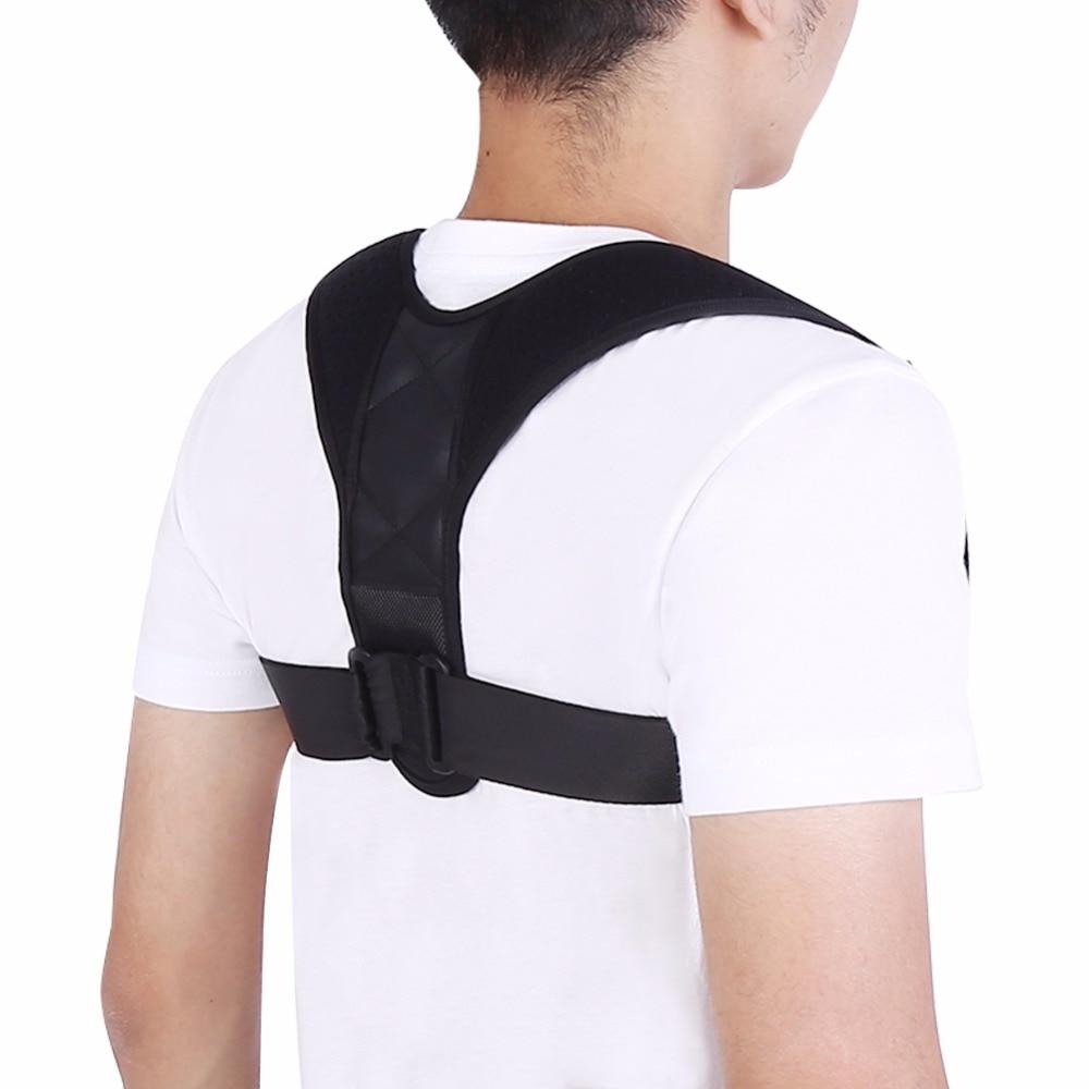 Adjustable Upper Back Posture Corrector Clavicle Back ...