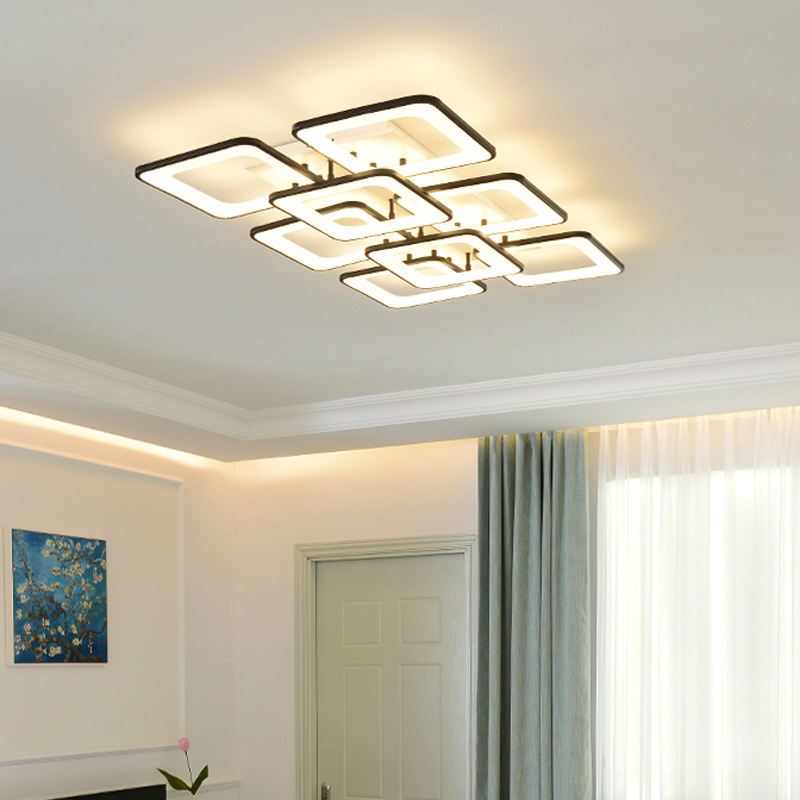 Modern Led Ceiling Lamp Fixture Remote Control Lighting For Ceiling Lights Acrylic Lamp Shades For Lighting Dining Bedroom Lamp Ceiling Lights Aliexpress
