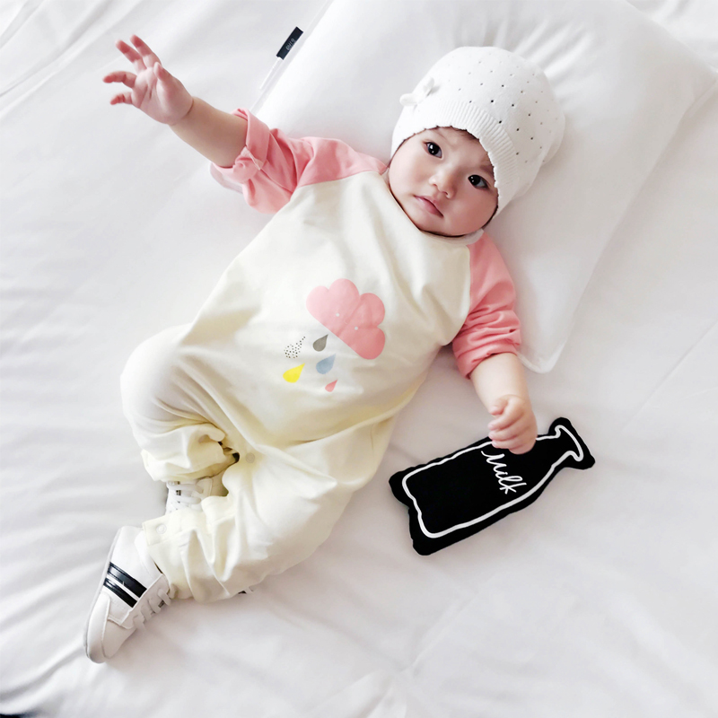 Baby Girl Clothes lovely Cloud printing Newborn Baby cotton O-neck rompers long-sleeve Infant Boy Girl Romper Kids Jumpsuit baby rompers 2016 newborn body baby boy girl clothes jumpsuit long sleeve infant onesie product turn down collar romper costumes