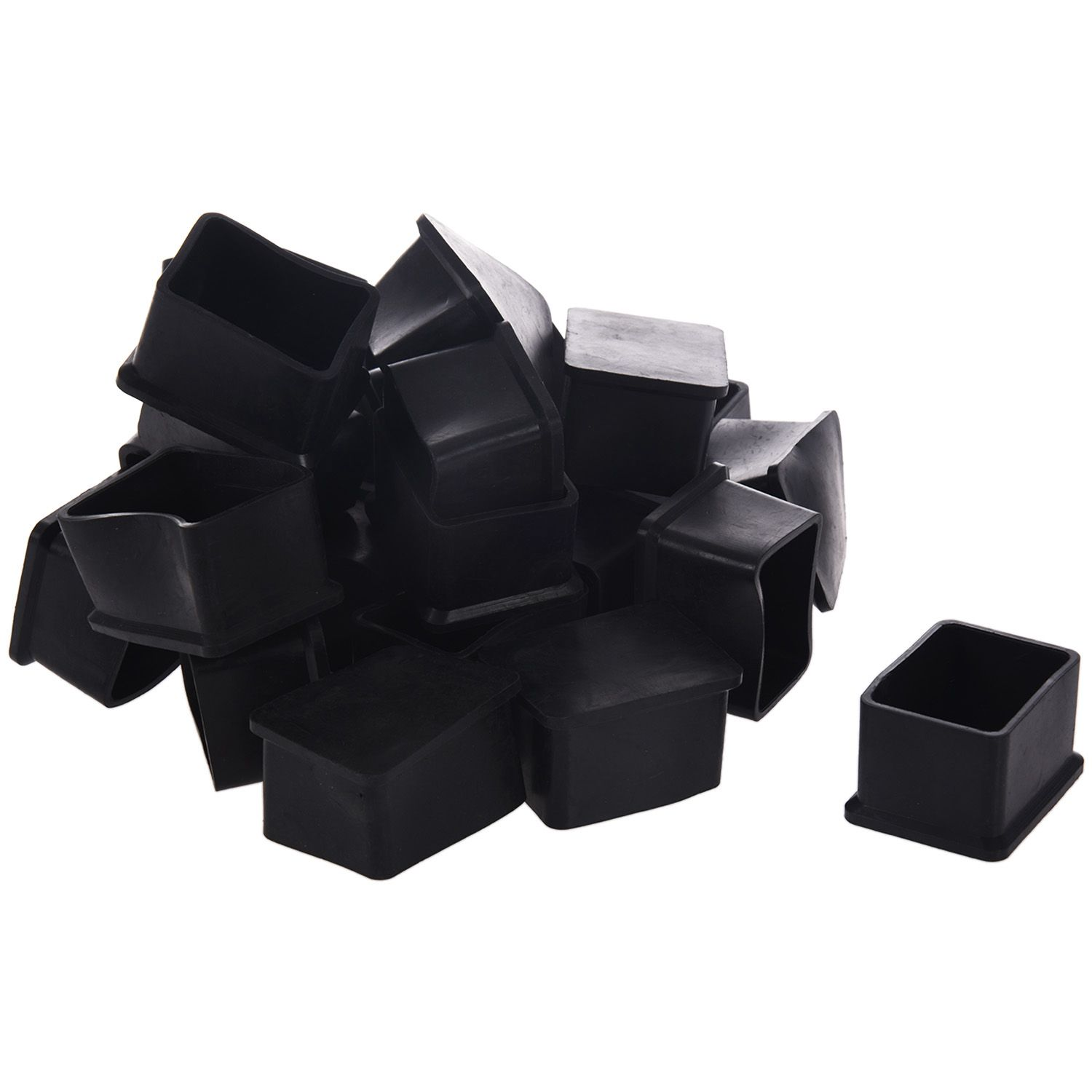 Hot Sale Rubber Rectangular Furniture Foot Cover Protector 40mm x 30mm 24 Pcs 80mm x 30mm aluminium flat rectangular bar 80 30mm width 80mm thickness 30mm 6061 t6