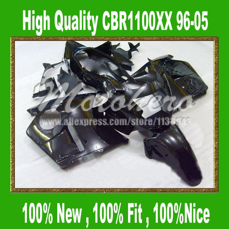 Black Fairing kit for Honda CBR1100XX 96-05 CBR1100 XX 96 05 1996 2005 CBR 1100XX 96 05 CBR 1100 XX 96 05 fairing parts #sd55