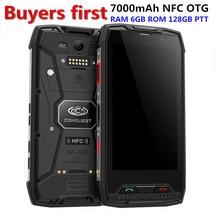 Conquête S11 Antichoc MTK6757 Octa-core Smartphone IP68 Étanche RAM 6 GB ROM 128 GB 7000 mAh PTT NFC OTG 16.0MP mobile Téléphone