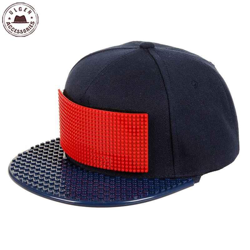 Novo personalizar legos boné de alta qualidade blocos tijolos diy legos chapéu de beisebol legal caminhoneiro snapback chapéu para homem e mulher destacável