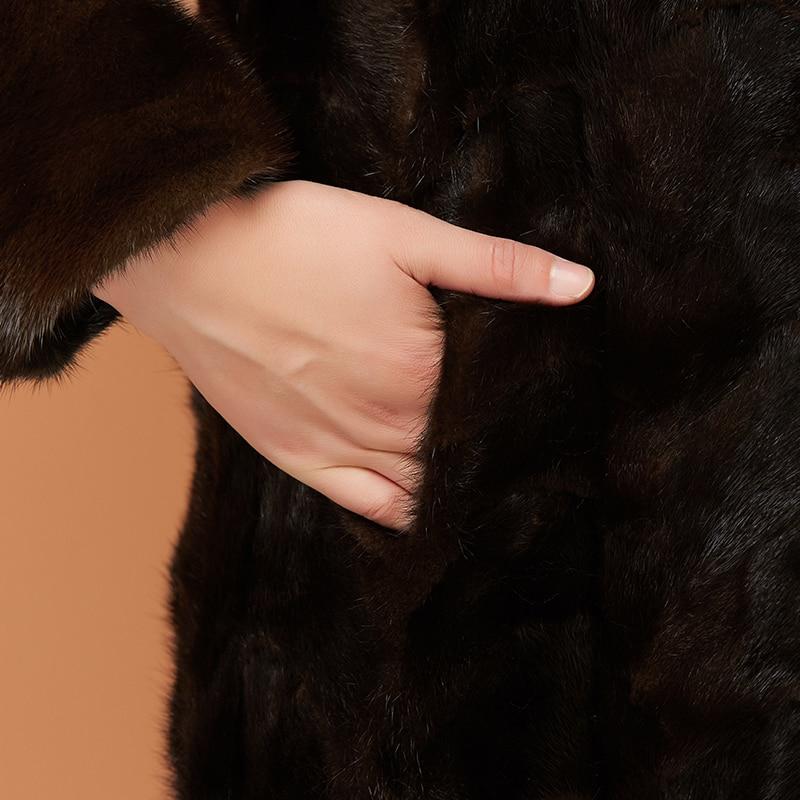 Renard De Hiver black Femme D'hiver Réel Kj1037 Vison Manteau Brown 2018 Ayunsue Femmes Coréenne Fourrure Luxe Col Veste RfwznfUqE