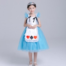 Girls Alice In Wonderland Party Dress Princess Costumes Cosplay For Halloween