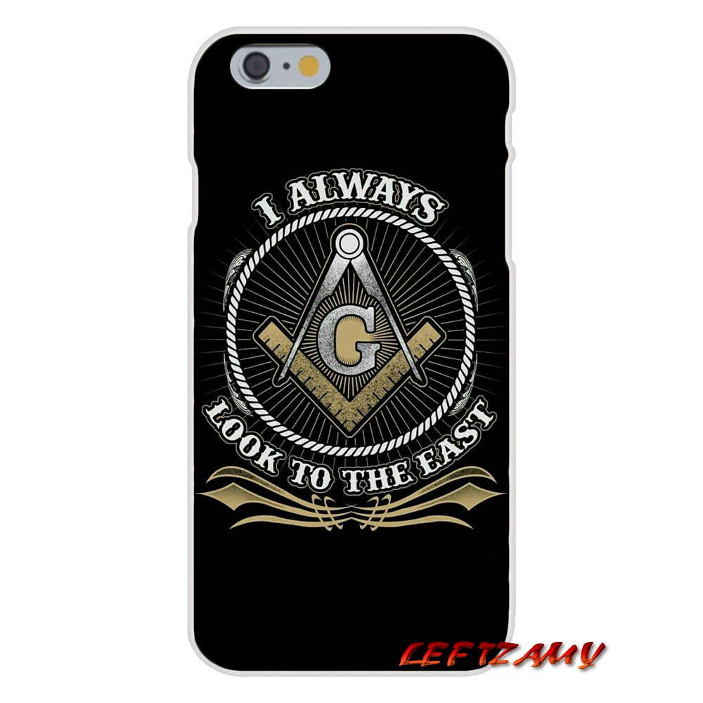 Free And Accepted Masonic Lodge Logo Slim Silicone Phone Case For IPhone X 4 4S 5 5S 5C SE 6 6S 7 8 Plus In Half Wrapped From Cellphones