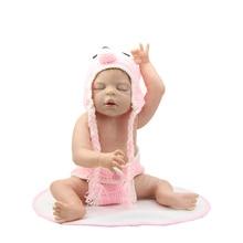 22 Inch Full Silicone Vinyl Baby Reborns Girl Toy Sleeping  Lifelike Handmade Newborn Doll Kids Birthday Xmas Gift