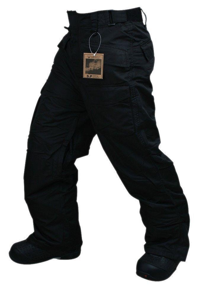 Newest Edition SouthPlay Winter Season Waterproof 10,000mm Warming Black Pants