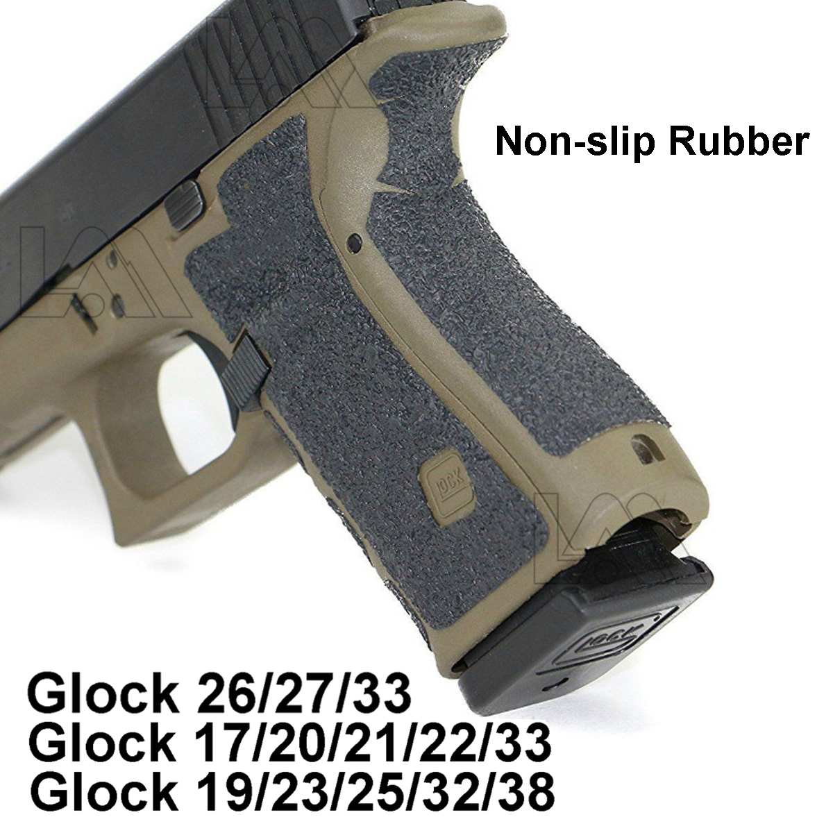 Tactical Non-slip Rubber Texture Grip Wrap Tape Glove For Glock 17 19 20 21 22 25 26 27 33 43 Pistol Gun Magazine Accessories