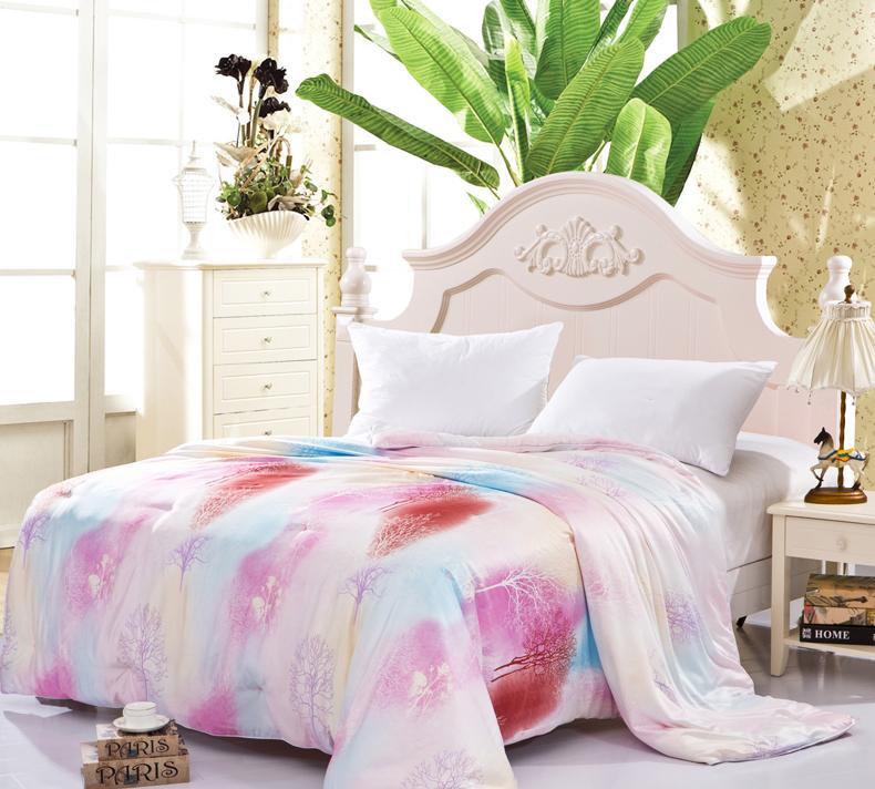 Hot sale 100% Silk comforter/quilt/Blanket/Duvet,for Spring Home King/Full/Queen double bed Size comforter summer