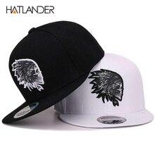 цены [HATLANDER]Embroidery Skull baseball caps hats hip hop snapbacks flat brim bones gorra sports snapback caps for men women unisex