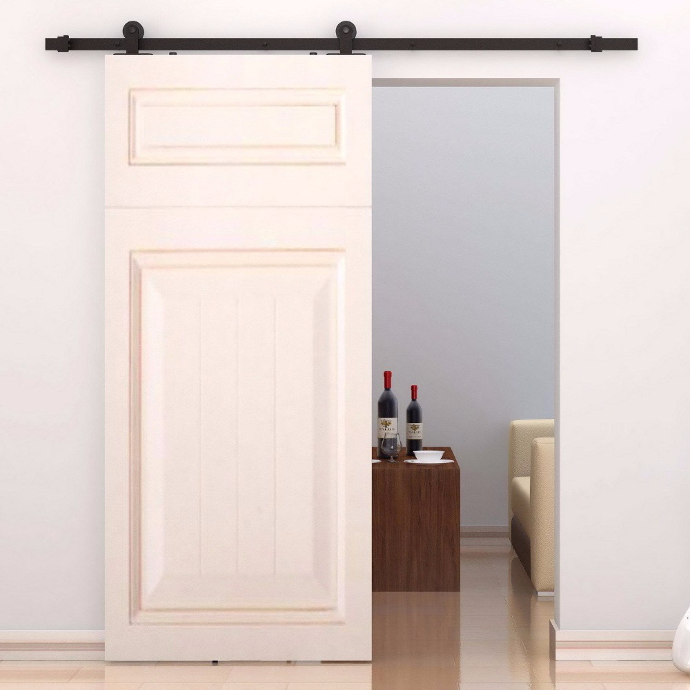 Free Shipping Top Mounted Double Sliding Barn Door Modern Wooden