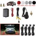 Dual Core CPU Auto Car Parking Sensor System Reverse Backup Radar Assistance Kit Step-up Alarm with 4 Sensors