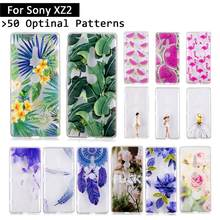 For Sony Xperia XZ2 XZ 2 Silicone TPU Case Flowers Cartoon Back Cover For Sony XZ2 Protective Cases Phone Shells Fundas Coque(China)