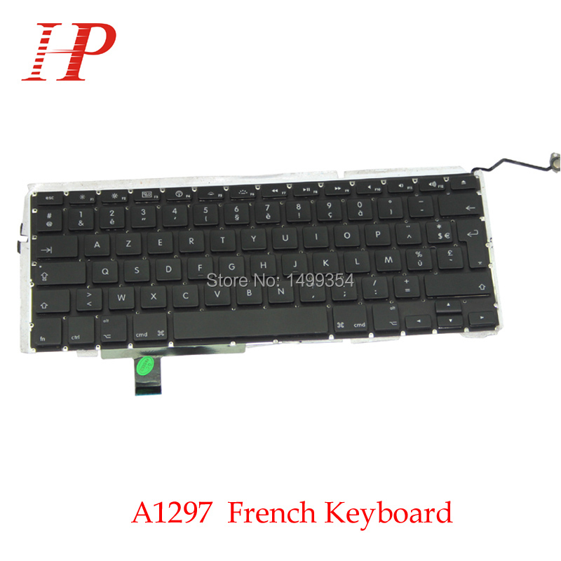 Original A1297 French Keyboard For Apple Macbook Pro 17'' With Backlight Replacement 2009-2012