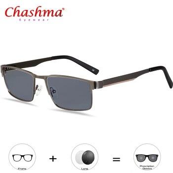 1d57c66060 Transición gafas de sol fotocromáticos gafas de lectura para los hombres de  aleación de titanio hombres presbicia con dioptrías gafas 1,0 1,25