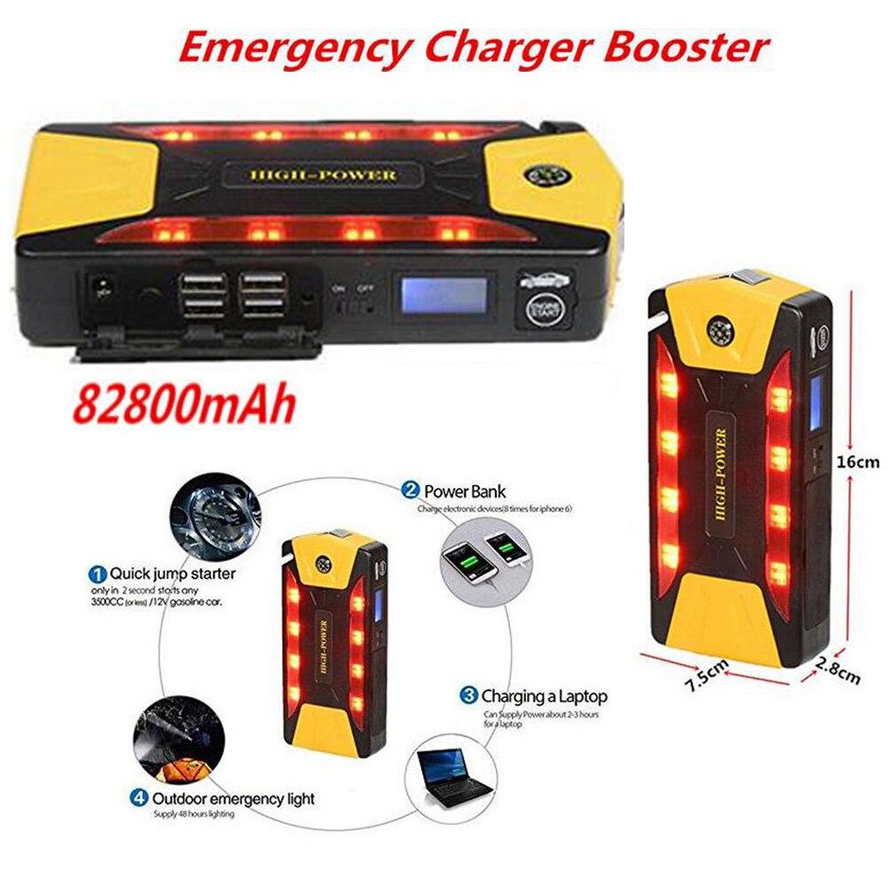 82800mAh Car Jump Starter Power Bank Emergency Auto Battery Booster Vehicle Jump Starter Car Charger Multi-function 18000mah emergency car jump starter charger booster emergency car jump starter
