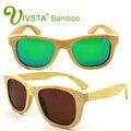 IVSTA Polarized Bamboo Sunglasses Men Bambu polaroid Handcrafted eco-friendly sports fishing driving Women Mirror WITH rivet