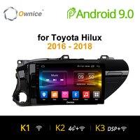 Ownice K1 K2 Android 8,1 автомобильный радиоприемник 2 din для Toyota Hilux 2016 2018 для автомобиля, DVD Бортовой компьютер навигации gps головное устройство аудиос