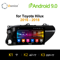 Ownice K1 K2 Android 9.0 car radio 2 din for Toyota Hilux 2016 2018 auto DVD on board computer Navigation GPS AUDIO head unit