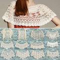 Зима весна мода женщин перемычка дамы пуловер кружева вязания крючком полости вязать мыс платок майка жилет W1