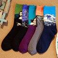 1 Par de Calcetines de Los Hombres Del Arte Pintura Abstracta Patrón Serie de Algodón En Calcetines Retro Moda de La Calle Harajuku Calcetines Z05