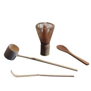 4 шт./компл., бамбуковые чайные инструменты Matcha с чайным венчиком и ложками, Прямая поставка, инструменты для кистей, китайские кухонные прин...
