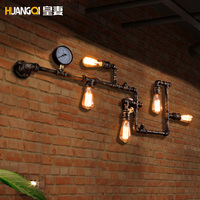 Vintage loft industrial Wall Lamp balcony restaurant bar iron pipe
