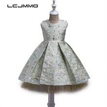 LCJMMO Fashion Girls Dress Summer 2017 Princess Party Kids Bronzing Dresses For Girls Children's Costume Teenager Prom Designs